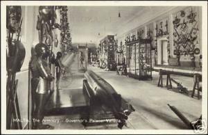malta, VALLETTA, Governor's  Palace, Armoury 50s RPPC