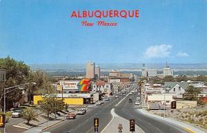 Albuquerque NM Seagram's Billboard~Enco Happy Motoring~Frank's Pizza 1950s Cars
