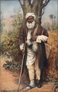 TUCK Oilette Native Life India Begging Fakir Punjab Man Costume Garb Postcard