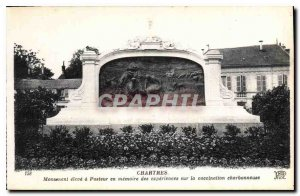 Postcard Ancient Monument Chartres has high Pasteur in memory experiments on ...