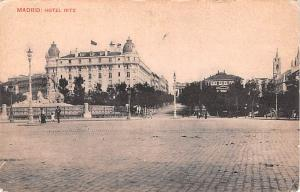 Spain Old Vintage Antique Post Card Hotel Ritz Madrid Unused