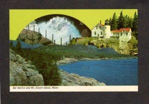 ME Bar Harbor Mt Desert Island Greetings Acadia National Park Maine Postcard
