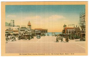 Old Orchard Beach, Maine, Old Orchard Street showing Amusement Center