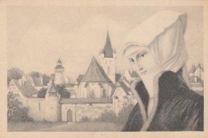 AS; M.M. VIENNE #137; Female Head Portrait , 1890s