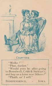 Independence IA Courting~A Foine New Shtove~Bonniewell, Cobb & Stewart TC~c1889