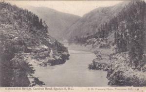 Suspension Bridge, Cariboo Road, Spuzzum, British Columbia, Canada, PU-1905