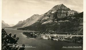 Waterton Lagos Alberta Canada Townsite Vintage Real Foto Tarjeta Postal RPPC