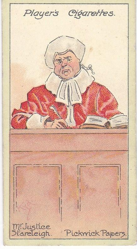 Cigarette Cards Players Characters From Dickens No 14 Mr. Justice Stareleigh