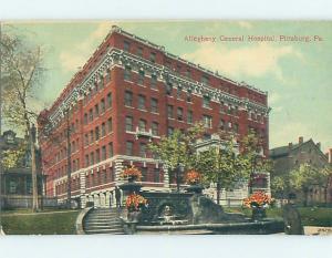 Divided-Back HOSPITAL SCENE Pittsburgh Pennsylvania PA d5866