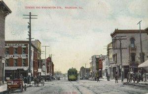 WAUKEGAN, Illinois, PU-1909; Genesee & Washington Streets