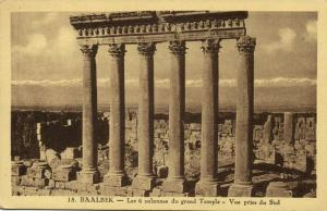 lebanon, BAALBECK BAALBEK, The Six Columns of the Great Temple (1930s)