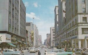 Ste. Catherine Street and Peel, Montreal, Quebec, Canada, 40´s-60´s