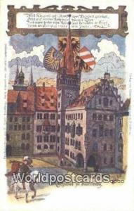 Kathaus fu Nurnberg Germany, Deutschland Postcard  Kathaus fu Nurnberg