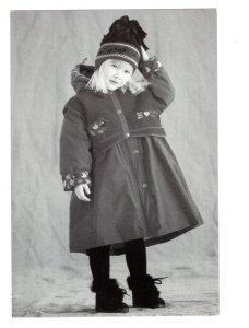 5 X 7 inch Child Model. Bib and Tucker, Nova Scotia Vintage Advertising Postcard