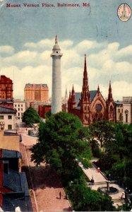Maryland Baltimore Mount Vernon Place 1911