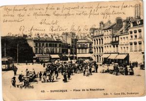 CPA DUNKERQUE - Place de la Republique (137234)