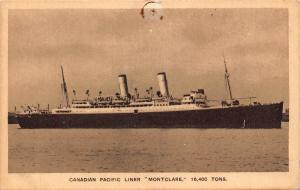 Canadian Pacific Liner Montclare Postcard