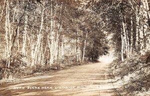 LPS13 Lancaster New Hampshire Road Scene Postcard RPPC