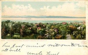 VT - Burlington. Lake Champlain from University Grounds