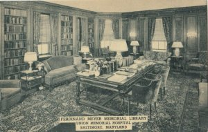 BALTIMORE, Maryland, 1900-10s; Union Memorial Hospital , Library