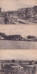 Ashar Creek Basra Nasiriyeh 3x Antique Iraq Postcard s