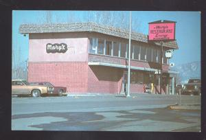 MONTROSE COLORADO MARY'S RESTAURANT OLD CARS VINTAGE POSTCARD