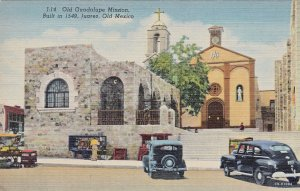 P1911 vintage postcard mexico guadalupe mission with old cars etc unused