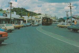Karakawa Northland Tram Mobil Petrol Station New Zealand Postcard