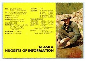 Postcard AK Alaska Nuggets of Information panning gold AJ4