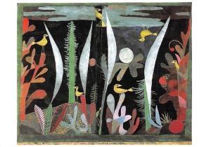 Paul Klee Landschaft mit Gelben Vogeln Postcard
