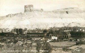 WY, Green River, Wyoming, Town View, Castle Rock, Sanborn No. Y-885, RPPC