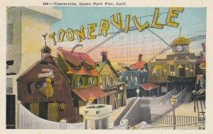Ocean Park Pier , California, 1910-30s ; Toonerville