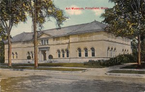 Art Museum, Pittsfield, Massachusetts, Early Postcard, Used in 1911
