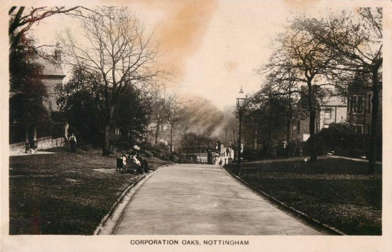 Postcard Corporation Oaks, Nottingham *circular crease & staining* A35