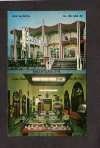 Mexico Galerias Indio Mazatlan Sin Advertising Card Money Exchange Table