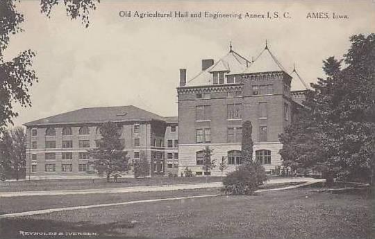 Iowa Ames Old Agricultural Hall And Engineering Annex I S C Albertype
