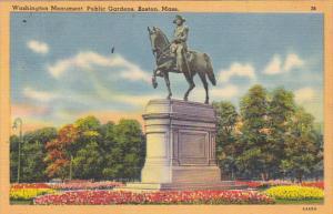 Washington Monument Public Gardens Boston Massachusetts