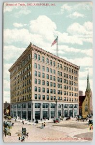 Indianapolis Indiana~Board of Trade Building~Trolleys~Artist Conception~c1910