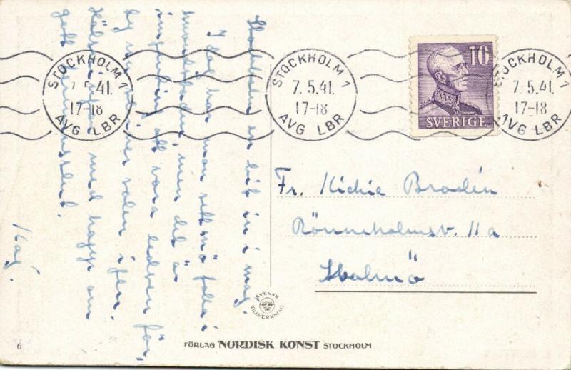 artist signed R. Högfeldt, Rivals (1941) Nordisk Konst Stockholm