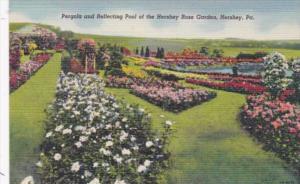 Pennsylvania Hershey Pergola and Reflecting Pool Hershey Rose Garden Curteich