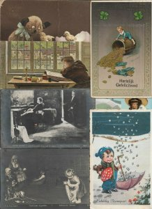Birthday New Year People And Other Postcard Lot of 20  01.15