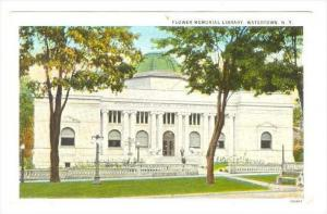 Flower Memorial Library , Watertown , New York , PU-1927