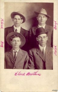 THE PENNY STUDIO A.L. WRIGHT, PROP. SIOUX FALLS SD THE FOUR CLARK BROTHERS PHOTO