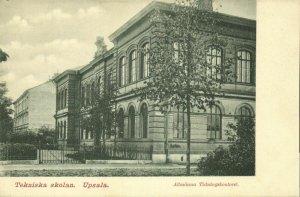 sweden, UPSALA, Tekniska Skolan, Technical School (1899) Postcard