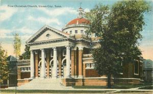 C-1910 First Christian Church Union City Tennessee Teich Postcard 4495