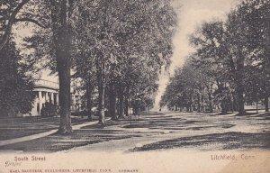 LITCHFIELD, Connecticut, 1900-10's; South Street