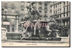 Postcard Old Lyon Fontaine Bartholdi Horse Horse