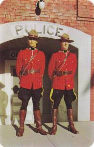 R.C.M. Police constables in front of Police Station at Cranbrook,  B.C.,  Can...