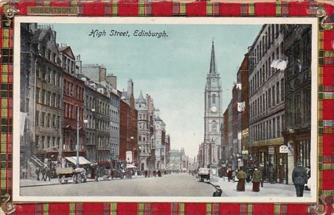 Scotland Edinburgh High Street 1914