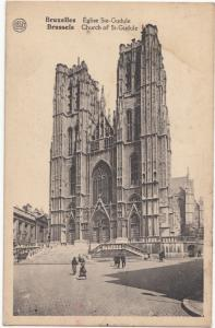 Belgium, Bruxelles, Brussels, Eglise Ste-Gudule Church, unused Postcard